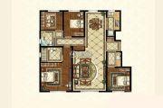 中海寰宇天下4室2厅2卫139平方米户型图