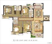 茂业观园 高层4室2厅2卫163--168平方米户型图