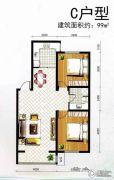观山悦2室1厅1卫0平方米户型图