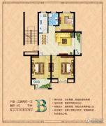 盛通・红郡3室2厅1卫0平方米户型图