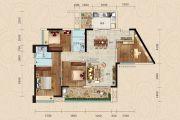 正德天水湖3室2厅2卫117平方米户型图