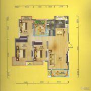 华侨城3室2厅1卫120平方米户型图