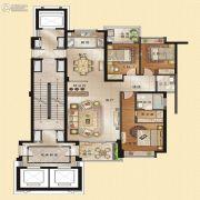 观海居3室2厅2卫160平方米户型图