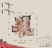 融汇半岛玫瑰公馆2室2厅1卫70平方米户型图