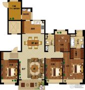 碧桂园龙城4室2厅2卫157--170平方米户型图