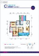 贵熙帝景C组团3室2厅2卫126平方米户型图