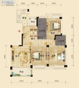 香岸华府二期3室2厅2卫125平方米户型图