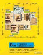 万福商业城3室2厅2卫115平方米户型图