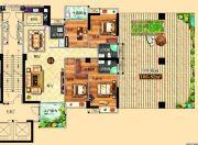 鸿泰华府4室2厅3卫170平方米户型图