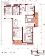汉阳人信汇・ME TOO公馆4室2厅2卫138平方米户型图