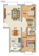 华美国际2室2厅1卫103平方米户型图