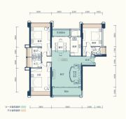 恒基五洲家园3室2厅3卫140平方米户型图