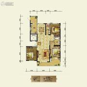 银基银河丽湾3室2厅2卫172平方米户型图
