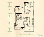 山水檀溪・山水家园2室2厅1卫83平方米户型图