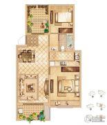 首创悦都2室2厅1卫93平方米户型图