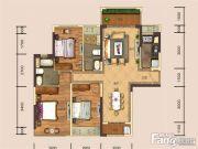金地・城南艺境3室2厅2卫0平方米户型图