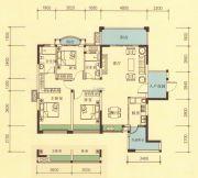 品湖居3室2厅2卫120平方米户型图