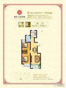 裕升・大唐华府2室2厅1卫85平方米户型图