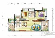 新鸿基悦城2室2厅1卫97平方米户型图