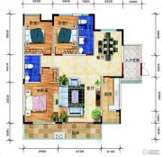 锦绣花园3室2厅2卫143平方米户型图