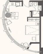 大拇指广场1室1厅1卫49平方米户型图