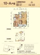 彰泰峰誉3室2厅2卫121平方米户型图