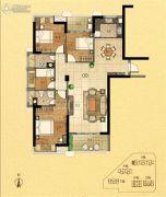 金紫世家4室2厅2卫136平方米户型图