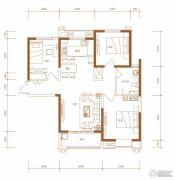 东胜紫御府3室2厅1卫112平方米户型图