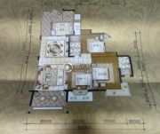 鼎威花园3室2厅2卫117平方米户型图