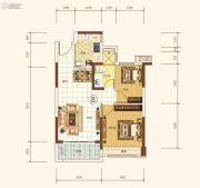 恒大海上帝景2室2厅1卫74平方米户型图