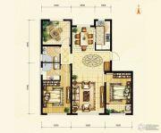 天成熙园3室2厅2卫115平方米户型图
