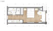 东原世界时0室1厅1卫0平方米户型图
