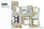 邦华翠悦湾3室2厅1卫91平方米户型图