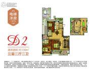 南昌恒大翡翠华庭3室2厅2卫139平方米户型图