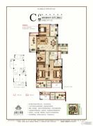 金圆上都三期3室2厅2卫117平方米户型图