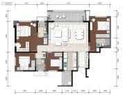 金辉中央�著4室2厅2卫127--159平方米户型图