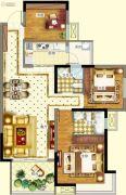德阳万达广场3室2厅2卫98--106平方米户型图