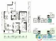 云顶澜山3室2厅2卫126平方米户型图
