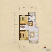 蓝远名城2室2厅1卫92平方米户型图