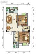 荣华山庄二期温情港湾2室2厅1卫87平方米户型图