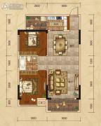 广汇・圣湖城2室2厅1卫80平方米户型图
