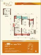 佳兆业滨江壹号3室2厅1卫87平方米户型图