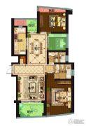 保利达江湾城3室2厅2卫149平方米户型图