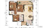 五和城南新天地3室2厅2卫115平方米户型图