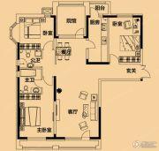 铂金首府3室2厅2卫153平方米户型图