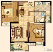 深业华府2室2厅1卫92平方米户型图