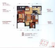 俊发城3室2厅2卫93平方米户型图