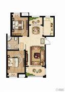 同科・汇丰国际2室2厅1卫92平方米户型图