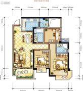 蓝光COCO香江2期3室2厅2卫0平方米户型图