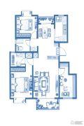 大华朗香花园3室2厅2卫119--122平方米户型图